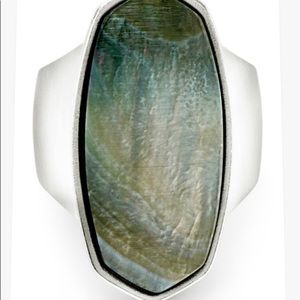 Kendra Scott Kit Mother of Pearl Ring Size 6